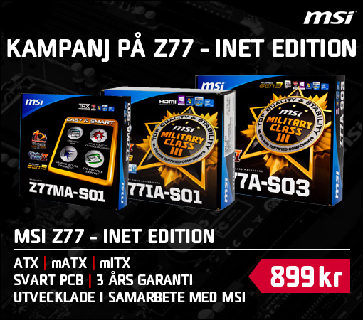 MSI Z77 INET EDITION Frontbanner