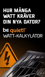 be quiet! PSU-kalkylator